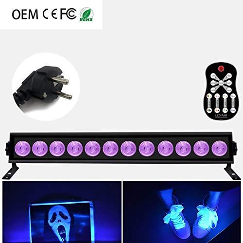 Disco Light, LED 9/12/9 W/12 W, met muur, paars, UV-licht, afstandsbediening, voor KTV Bar DJ Halloween kerstdecoratie MXCZZ 12-Europe