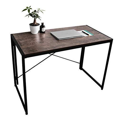 Portable Folding Computer Desk Under 100 Dollars Simple Modern Study Writing Desk Industrial Style...