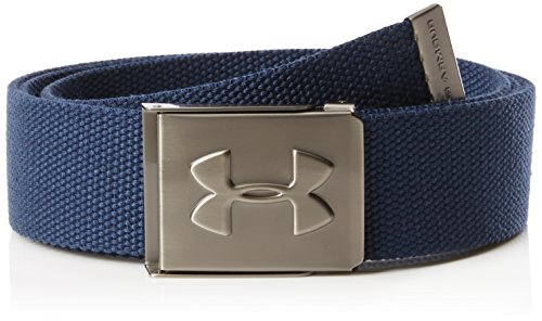 Under Armour Men's Webbing Golf Belt, Academy Blue (408)/Graphite, One Size Fits All