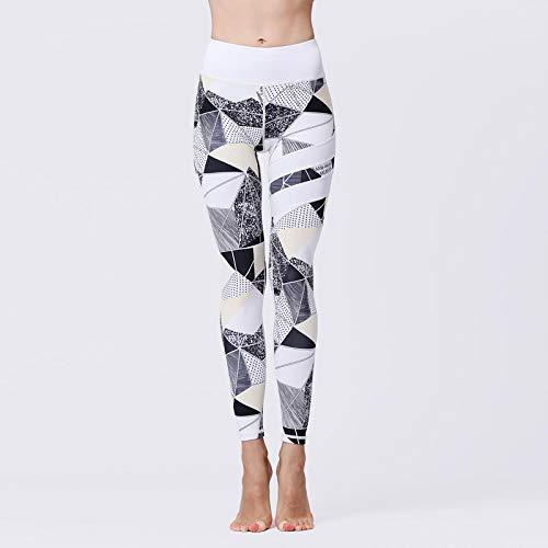AOZLOVEC Fitness Yoga Pantalones Leggings de entrenamiento Gym Sport Slim Medias de cintura alta Running Tummy Control Trousers M HK212