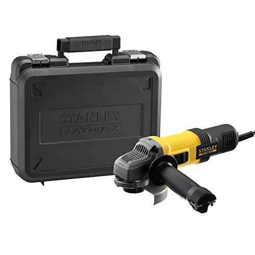 STANLEY FATMAX FMEG210K-QS - Amoladora 115mm eléctrica de 850W, 12.000 rpm, incluye maletín