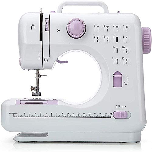 Sewing Machine12 Stitches 2 Speeds LED Sewing Light Foot Pedal mini Sewing Machine Beginner Locking Machine Electric Multifunctional Mini Sewing Machine