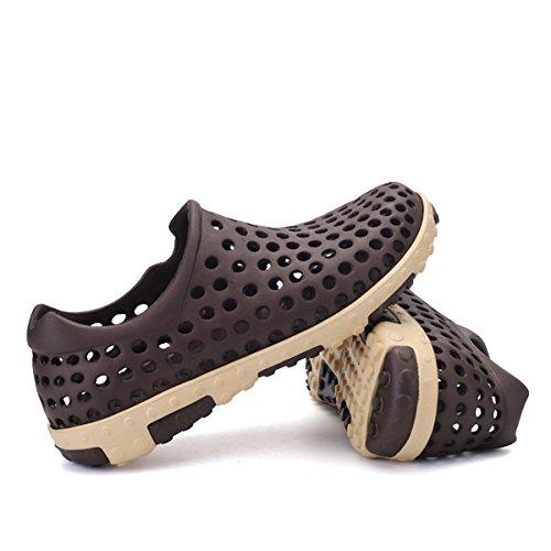 Bluelover Los Hombres De Verano De Sandalias Huecos De La Playa Zapatillas Zapatos Mocasines Deslizante En Calzado Deportivo Al Aire Libre Casual - 8,5 - Marrón