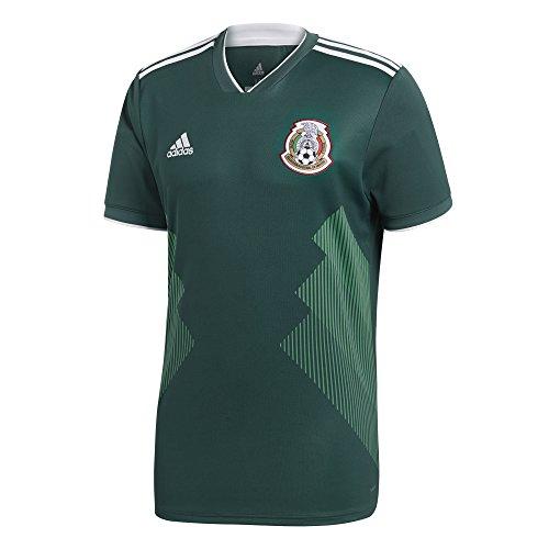adidas México 2018 Home - Camiseta réplica - BQ4701, S, Collegiate Green/Navy