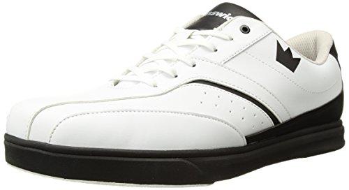 Brunswick Vapor Mens Bowling Shoe White/Black, 10.0