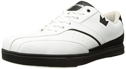 Brunswick Vapor Mens Bowling Shoe White/Black, 10.5