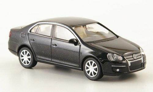 VW Jetta V, met.-schwarz, 2005, Modellauto, Fertigmodell, Wiking 1:87