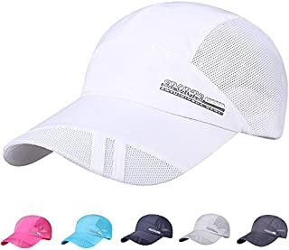 iYBUIA Fashion Adult Mesh Hat Quick-Dry Collapsible Sun Hat Outdoor Sunscreen Baseball Cap
