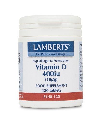 Lamberts Vitamina D 400UI. 120 comprimidos