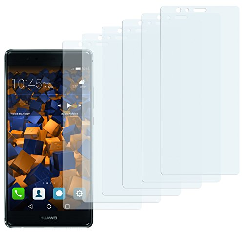 mumbi Schutzfolie kompatibel mit Huawei P9 Folie klar, Bildschirmschutzfolie (6X)
