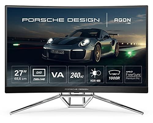 AOC PD27 68,6cm (27') WQHD Curved Gaming Monitor HDMI/DP 240Hz 0,5ms FreeSync