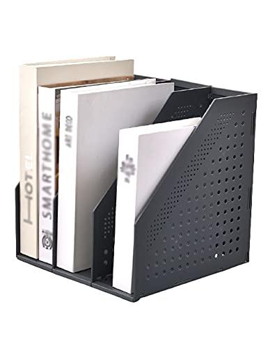 THHN Estante expandible de múltiples Capas, Estante Creativo de 4 columnas, Estante de Archivo de Inserto Vertical, gerencia de Archivos de Libro de Escritorio (Color : Black, tamaño : 3 Columns)