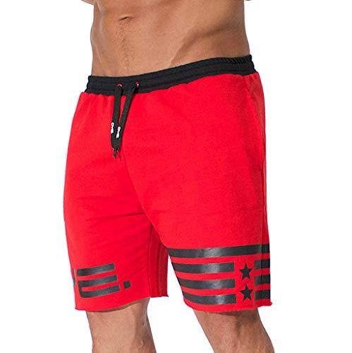 Romantic Homme Short de Bain Bermuda Séchage Rapide Garçons Court de Plage Sport Natation Polyester Noir, Gris, Rouge