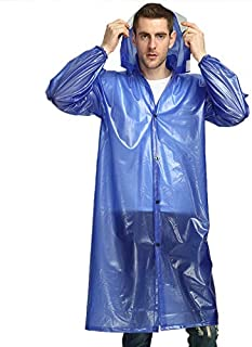 SODIAL Long Rainwear With Bull Tendons For Labor Insurance In Construction Sites Outdoor Travel Rainwear For Motorcycle Rainwear(Green)