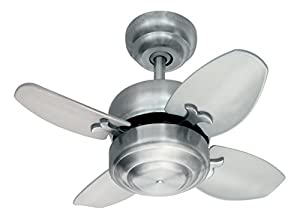 "Monte Carlo 4MC20BS Mini 20"" Ceiling Fan with Pull Chain for..."