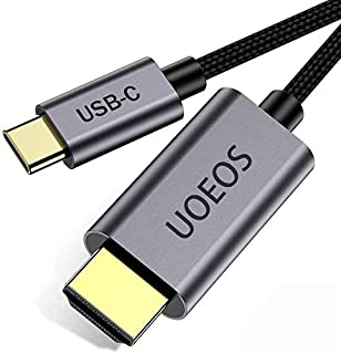 USB C to HDMI Cable 4K Adapter,UOEOS USB 3.1 Type-C to HDMI Adapter Compatible with MacBook Pro ,HDMI to USB C Adapter(Male to Male,1.8M)