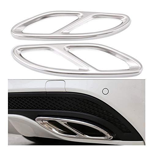 LQIAN Autotechnik AMG Auspuff-Abdeckungs-Ordnung Gepasst Fit for Mercedes Benz GLC A B C E-Klasse W205 Coupe W213 W176 W246 2016-17 Auspuff Verkleidung Trim