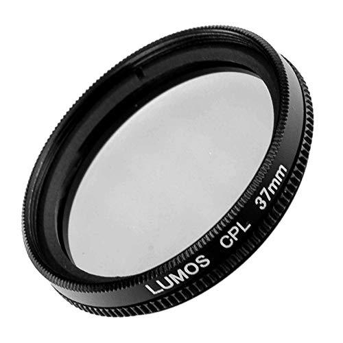 LUMOS zirkularer Polfilter 37mm – Lichtdurchlässiges Glas – Metallfassung im schlanken Slim Design - Premium Polarisationsfilter 37 mm