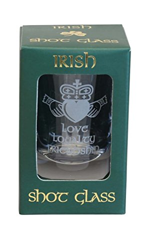 Sampson Verre à shooter Motif de Claddagh Irish-Love-Amitié fidélité