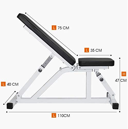 BATOWE Weight Bench Adjustable Weight Bench-Utility Gym Bench for Full Body Workout, Multi-Purpose Foldable Incline Dumbbell Benchs Weight Bench Adjustable