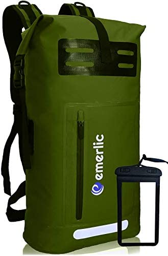 Emerlic Waterproof Dry Bag 35L Dry Backpack heavy duty Lightweight Water Sports Front Zippered product image