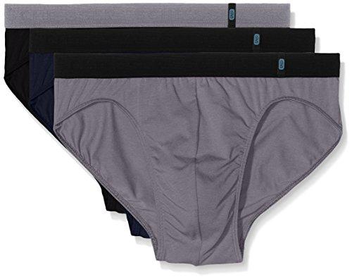Schiesser Herren Slip 95/5 Rio - Slip 155586, 3er Pack, Gr. Large (Herstellergröße: 006), Mehrfarbig (sortiert 901)