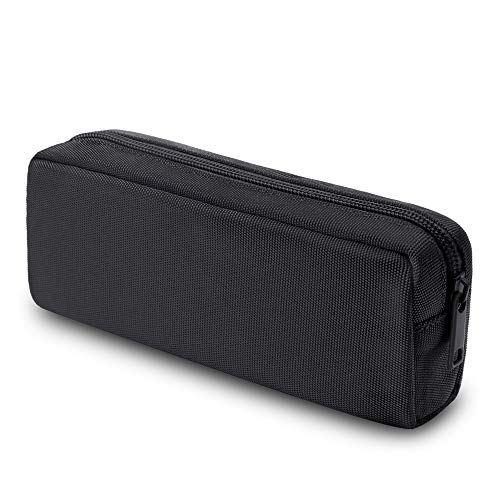 Pencil Pen Case, Dobmit Big Capacity Pencil Pouch Makeup Bag for Girls and Boys Durable Office Stationery Organizer - Black