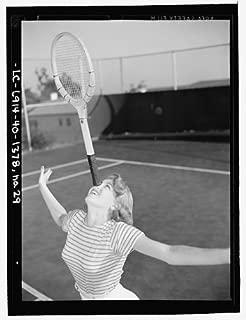 Infinite Photographs Photo: Lana Turner Posing,Tennis Court,Racket,Nose,Beverly Hills,CA,E Thiesen,1940