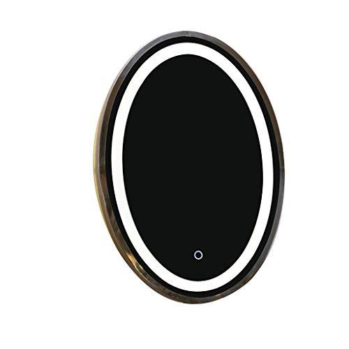 JKCKHA Llevado Espejo de Maquillaje Espejo de Maquillaje Maquillaje Espejo, Smart Desktop LED de luz de Relleno Puede Dar la Vuelta HD de Escritorio del Espejo cosmético R05 Decoración hogareña