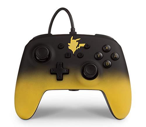 PowerA Verbesserter kabelgebundener Pokémon-Controller für Nintendo Switch – Pikachu Fade