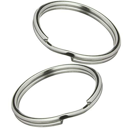 200 Anneaux pour Porte Clé en acier à ressort 30mm - Solides - Brillant