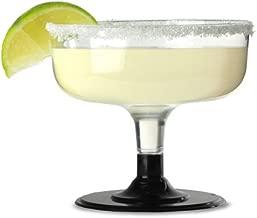 Margarita - Copas desechables de plástico Margarita de 180 ml, 12 unidades, 18 cl, copas desechables de cóctel de plástico