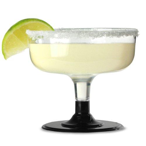 Wegwerp Margarita glazen zwart inhoud: 178 g/180 ml – Sleeve van 12 | 18 cl kunststof Margarita glazen, wegwerp kunststof cocktailglazen.