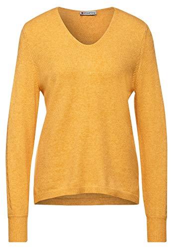 Street One Damen 301356 Pullover, Amber Yellow Melange, 38