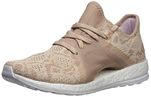 Price comparison product image adidas Performance Women's Pureboost X Element Running Shoe,  Ash Pearl / Ash Pearl / Hi-Res Blue,  9.5 M US