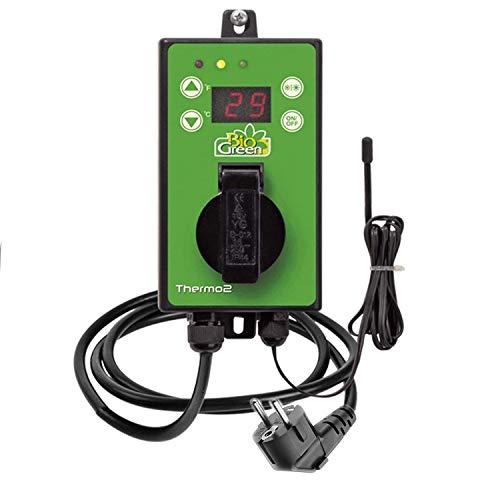 Bio Green Digital-Thermostat, grün, mit Sommer/Winter funktion IP X4 spritzwassergeschützt