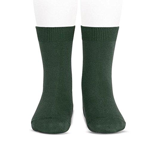 Calcetines Cóndor cortos lisos (10, Verde Botella)
