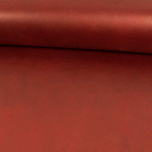 Polsterstoff Velourslederimitat Kentucky rot Möbelbezug Bezugsstoffe Lederanteil - Preis Gilt für 0,5 Meter
