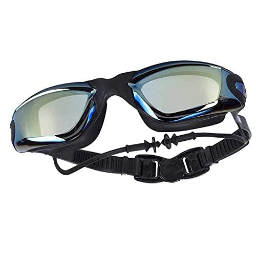 siqiwl Gafas de Natación EARPLUG PRODUCTOR Producto Adulto Silicona Swim Power GOBALLES Anti Niebla Hombres Mujeres Impermeable Eyewear