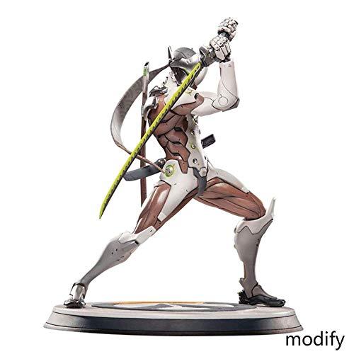 WXxiaowu Overwatch: Genji - 10 6 Zoll PVC Figur Spielzeug Statuen
