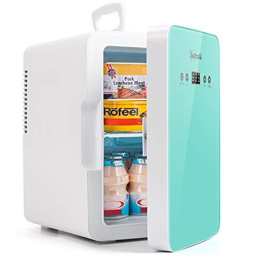 AstroAI Mini Kühlschrank 6 Liter Fridge mit Temperaturregelung - AC/12V(220V) DC Tragbarer thermoelektrischer Kühler und Wärmer für Schlafzimmer, Kosmetik, Muttermilch, Büro und Reisen
