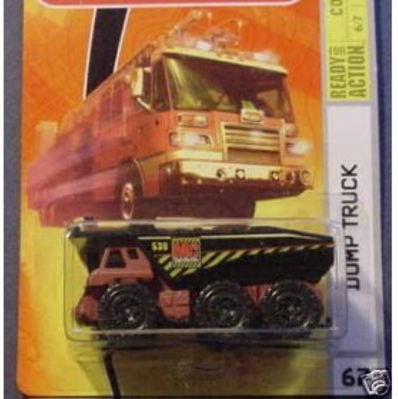 Mattel Matchbox 2008 MBX Construction 1 64 Scale Die Cast Metal Car   67  Red Dump Tanker Truck with Black Dumpster by Matchbox