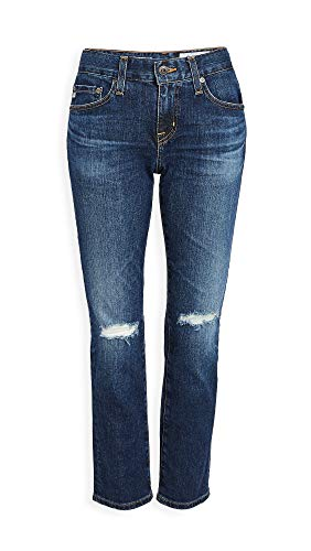 AG Women's Ex-Boyfriend Slim Jeans, 11 Year Interrupted, Blue, 24