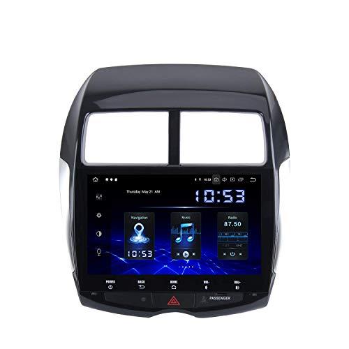 FDGBCF Android 10.0 1 DIN Car Radio Carplay para Mitsubishi ASX 2010 a 2017 Peugeot 4008 Citroen C4 Aircross Dab Car Stereo Android Auto IPS Pantalla GPS DSP 4GB / 64GB