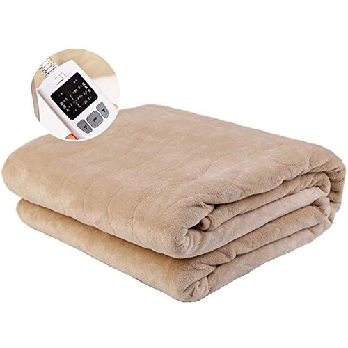 Electric Heated Blankets Home Electric Throws with Double-Layer Flannel Fast Heating with 10 Heating Levels 12 Hour Auto-Off Overheating Protection 180X150 cm XYXG (Color : Air Vent SILVER)