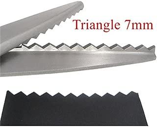 23.5cm Zig Zag Sewing Cut Dressmaking Tailor Shear Pinking Scissor Leather Handicraft Fabric Upholstery Tool Textile DENIM DIY Triangle 7mm