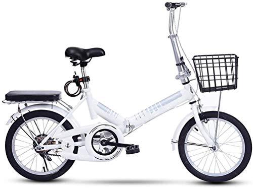 20 Pulgadas Bicicleta Bici Ciudad Plegables Adulto Hombre Mujer, Bicicleta de Montaña Btt MTB Ligero Folding Mountain City Bike Doble Suspension Bicicleta Urbana Portátil, H093ZJ