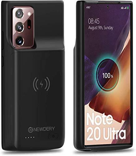 NEWDERY 6000mAh Akku Hülle für Samsung Galaxy NOTE 20 Ultra, Ladehülle Akku hülle für Samsung Galaxy NOTE 20 Ultra Schutzhülle Wiederaufladen Leistungsstarke Power Bank(Unterstützung Qi Wireless Lade)