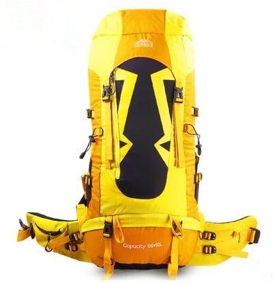 Professional Sac d'alpinisme mâle Sac à dos de randonnée Sac à dos femelle multifonction extérieur Sac à dos 70L