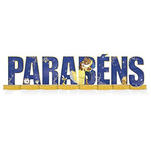 Regina Decoracao Mesa Parabens R275 Bela E A Fera -